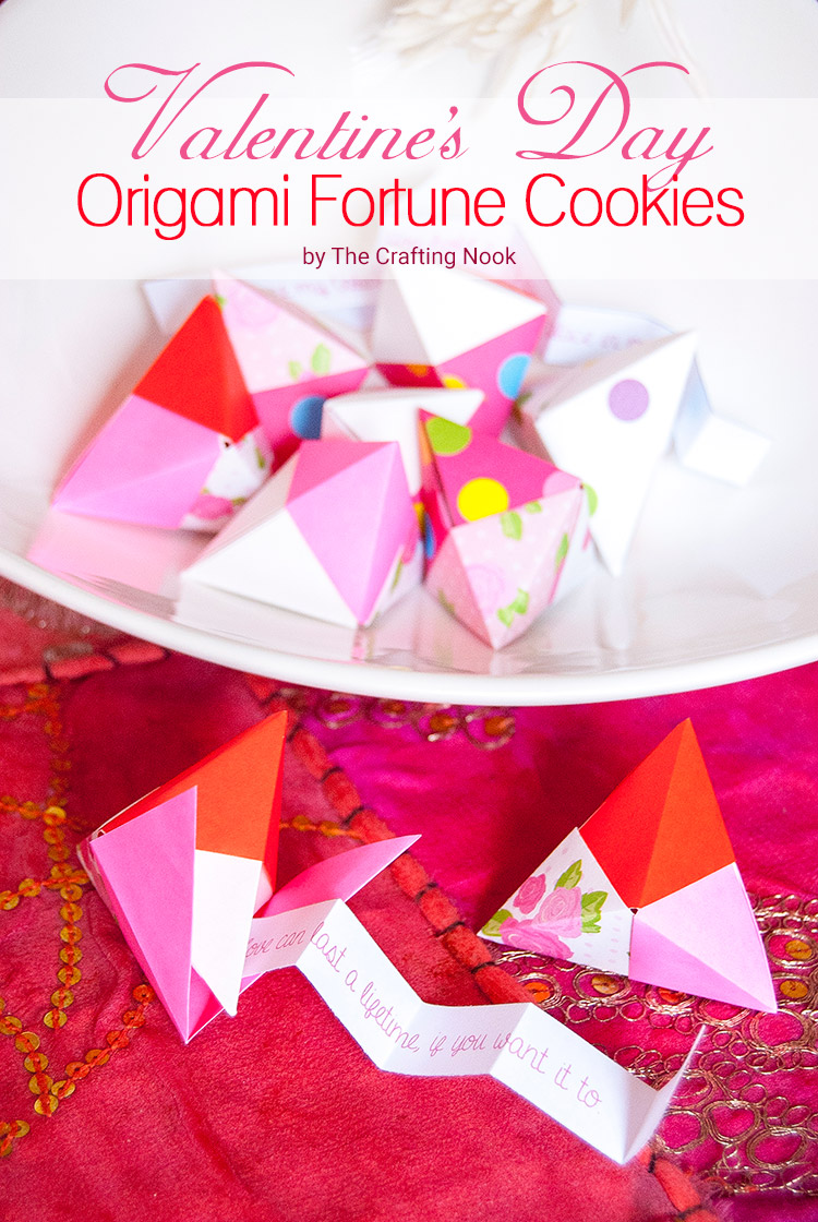 valentine�s day origami fortune cookies fun and easy