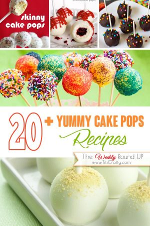 20+ Yummy Cake Pops #Recipes. The Weekly Round Up! #cakepopsrecipes #treatsrecipe #cakepops