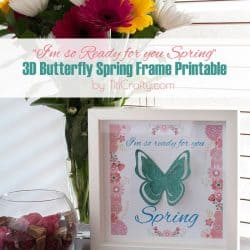 3D Butterfly Spring Frame #Printable #springprintable #3dbuttefly