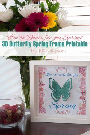 3D Butterfly Spring Frame Printable