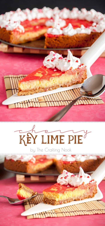 Cherry Key Lime Pie #recipe #keylimepie #keylimepierecipe