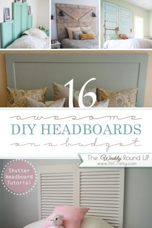 16 Awesome DIY Headboards on a budget
