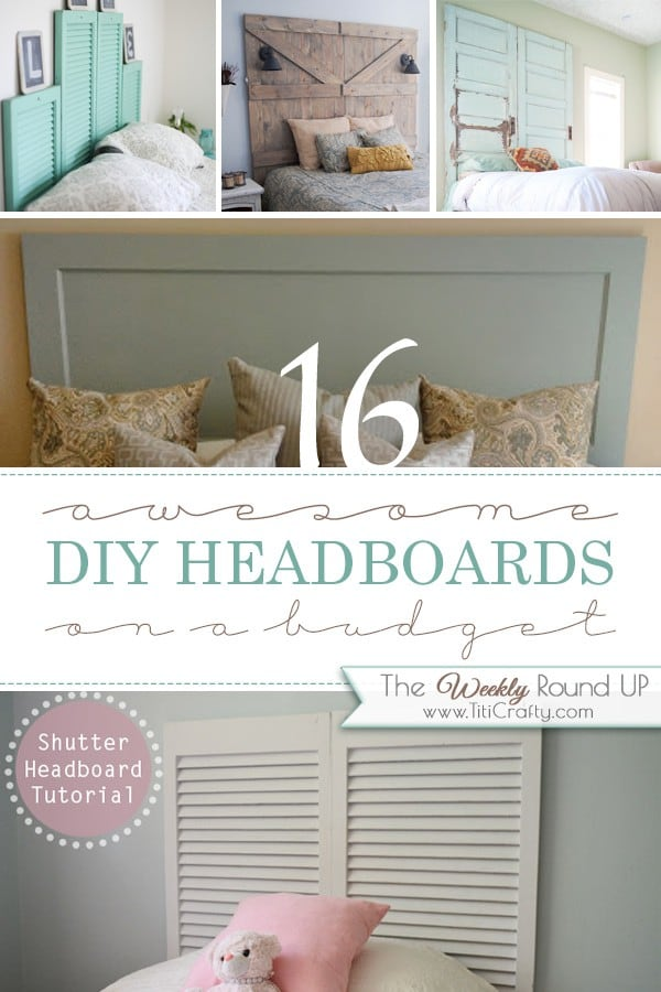 16 Awesome DIY Headboards on a budget #diyheadboards #headboardprojects #lowbudgetheadboards