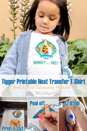 Tigger Printable Heat Transfer T-Shirt