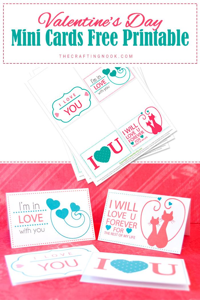 Valentine's Day Mini Cards (Free Printable)