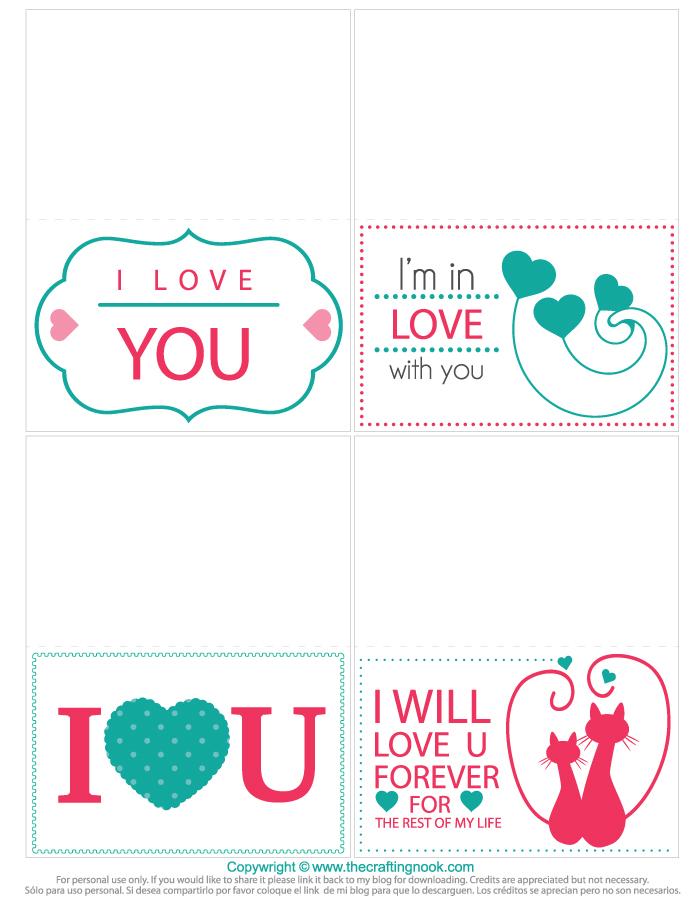 Valentine's Day Mini Cards Printable
