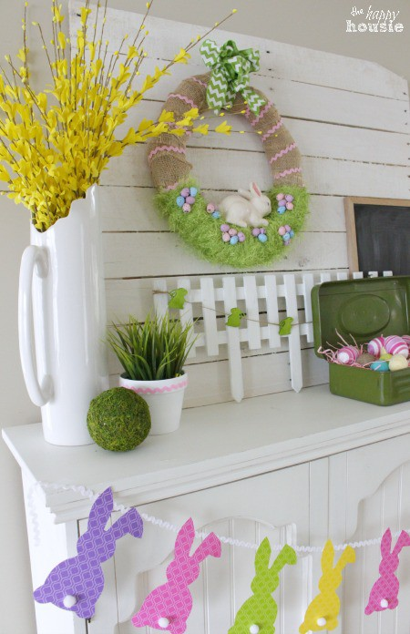 1-Easter-Bunny-in-the-Grass-Wreath-on-our-Easter-Mantel-at-The-Happy-Housie