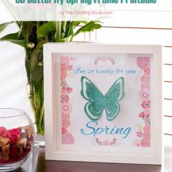 Easy 3D Butterfly Spring Frame Art + Free Printable