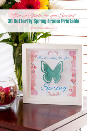 3D Butterfly Spring Frame Printable