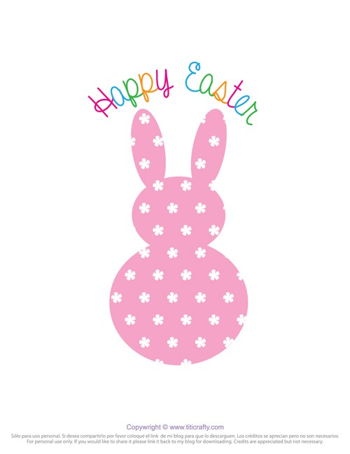 picture about Printable Easter Decorations called Pom Pom Tail Easter Bunny Printable The Writing Nook