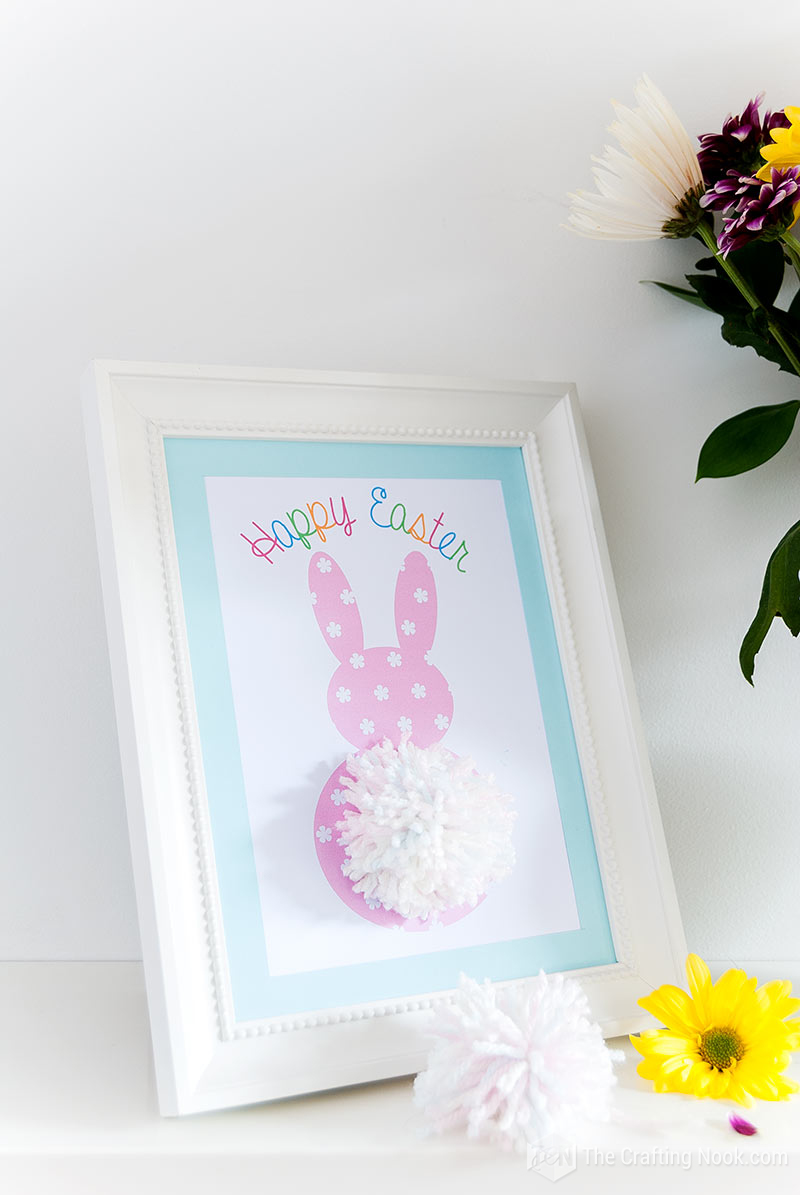 How to Make Pom Pom Tail Easter Bunny Printable