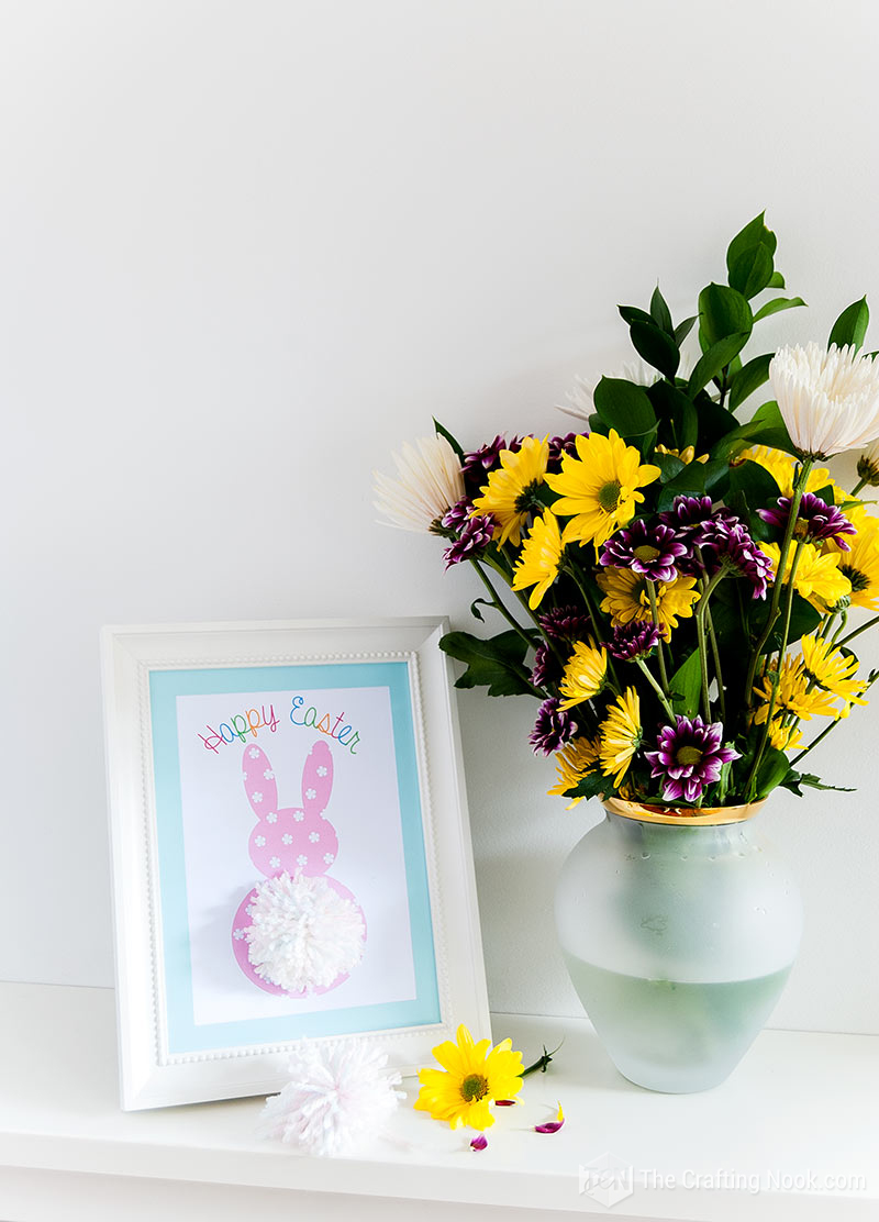 Pom Pom Tail Easter Bunny Printable Decor