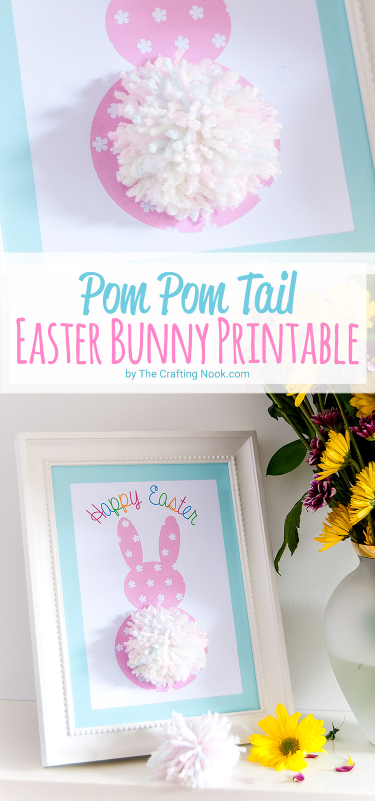 Cute Pom Pom Tail Easter Bunny