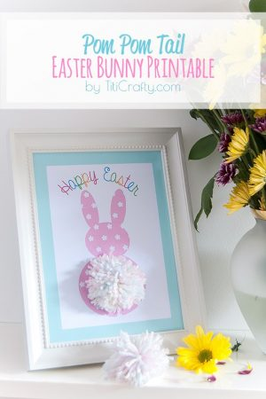 Pom Pom Tail Easter Bunny Printable