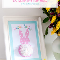 DIY Pom Pom Tail Easter Bunny