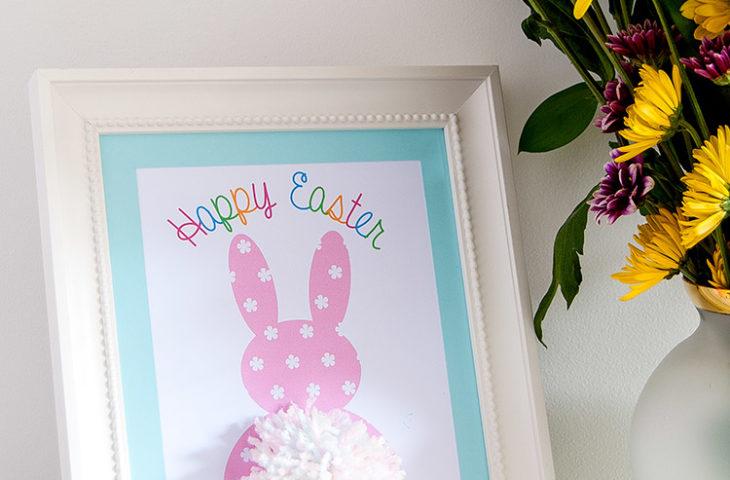 DIY Pom Pom Tail Easter Bunny