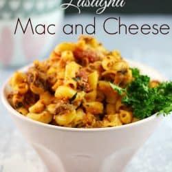 Lasagna Mac & Cheese #recipe #macandcheese #maindishes