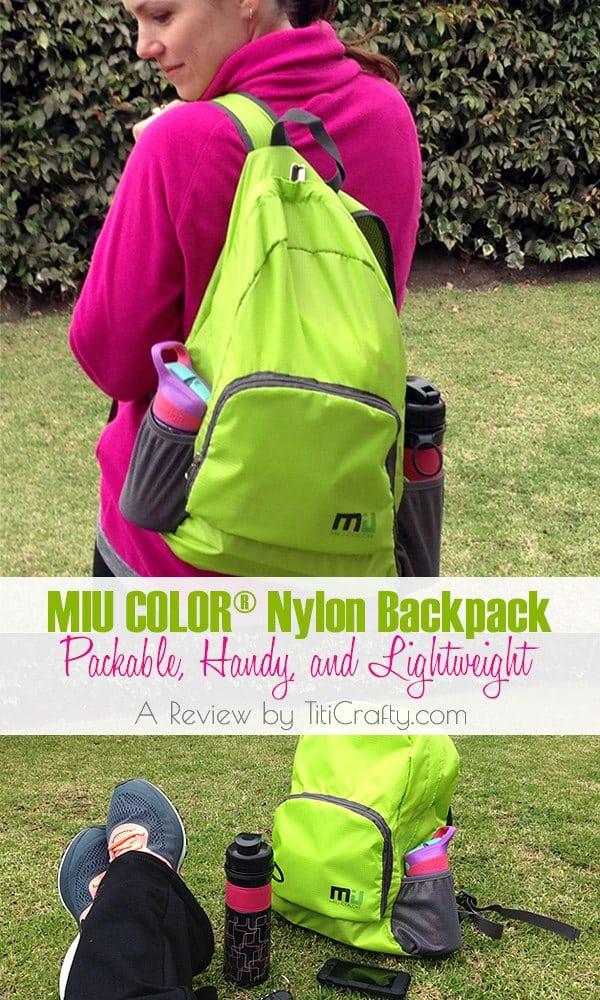 MIU COLOR® Nylon Backpack Packable, Handy, and Lightweight. #productreview #miucolor #miucolorbackpack