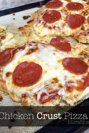 Delicious Chicken Crust Pizza
