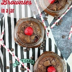 Cherry Chocolate Chip Brownies ~ The Plaid & Paisley Kitchen ~ www.pandpkitchen.com