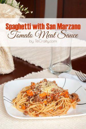 Spaghetti with San Marzano Tomato Meat Sauce