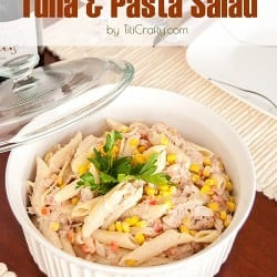 Tuna Pasta Salad Recipe #saladrecipe #barilla #Barillalovesmoms #ad #sponsored #tunasalad