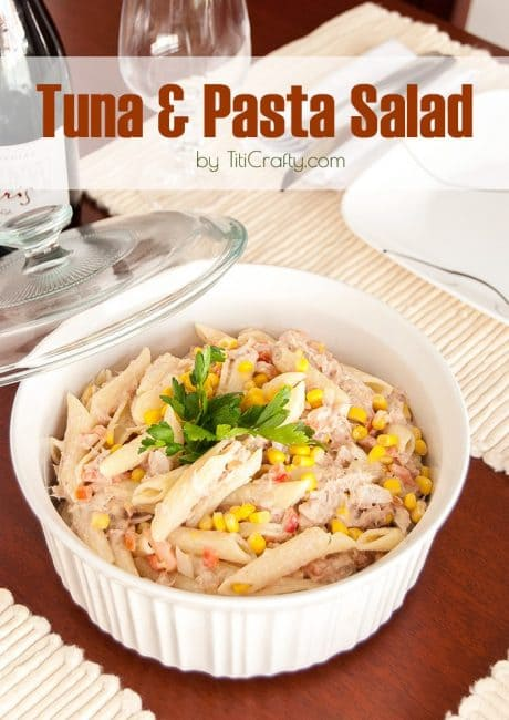 Farfalle pepperoni beans salad the crafting nook by for Tuna fish pasta