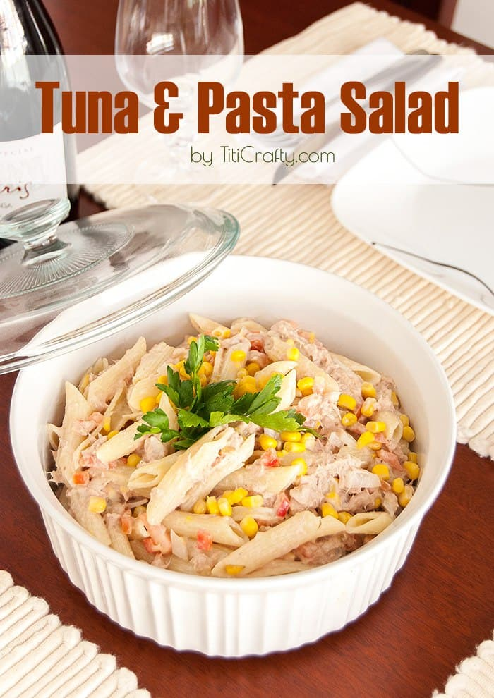 Tuna pasta salad the crafting nook by titicrafty for Tuna fish pasta