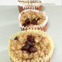 Banana Oat Greek Yogurt Muffins #recipe #gluttenfreerecipe #muffins
