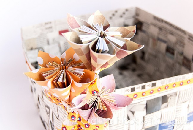 DIY-Newspaper-Basket-Paper-Flowers