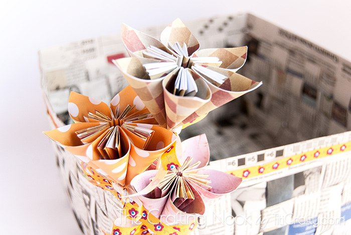Diy Newspaper Basket The Crafting Nook