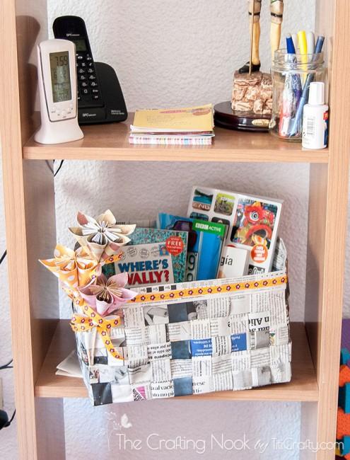 DIY-Newspaper-Basket-Recycle
