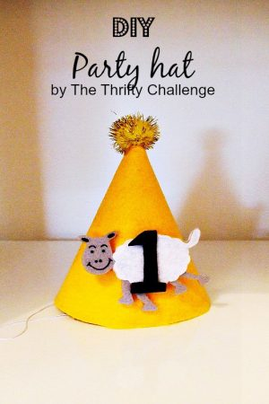 DIY Party Hat {from Contributor Lisa} #partyidea #partyhatidea #partyhat