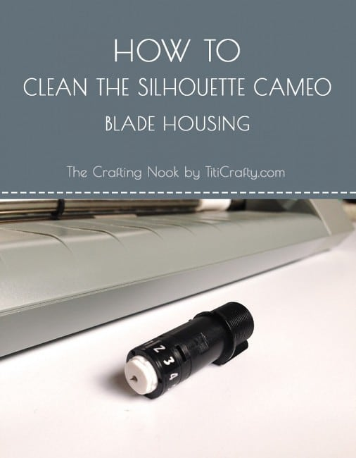 How to Clean the Silhouette Cameo Blade Housing #silhouettecameoblades #silhouettebladecleaning #howto