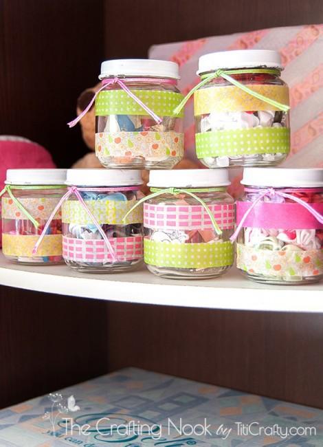 Washi-Tape-Recycled-Jars