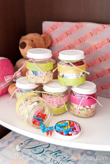 Washi-Tape-Recycled-Jars-for-Craft-supplies