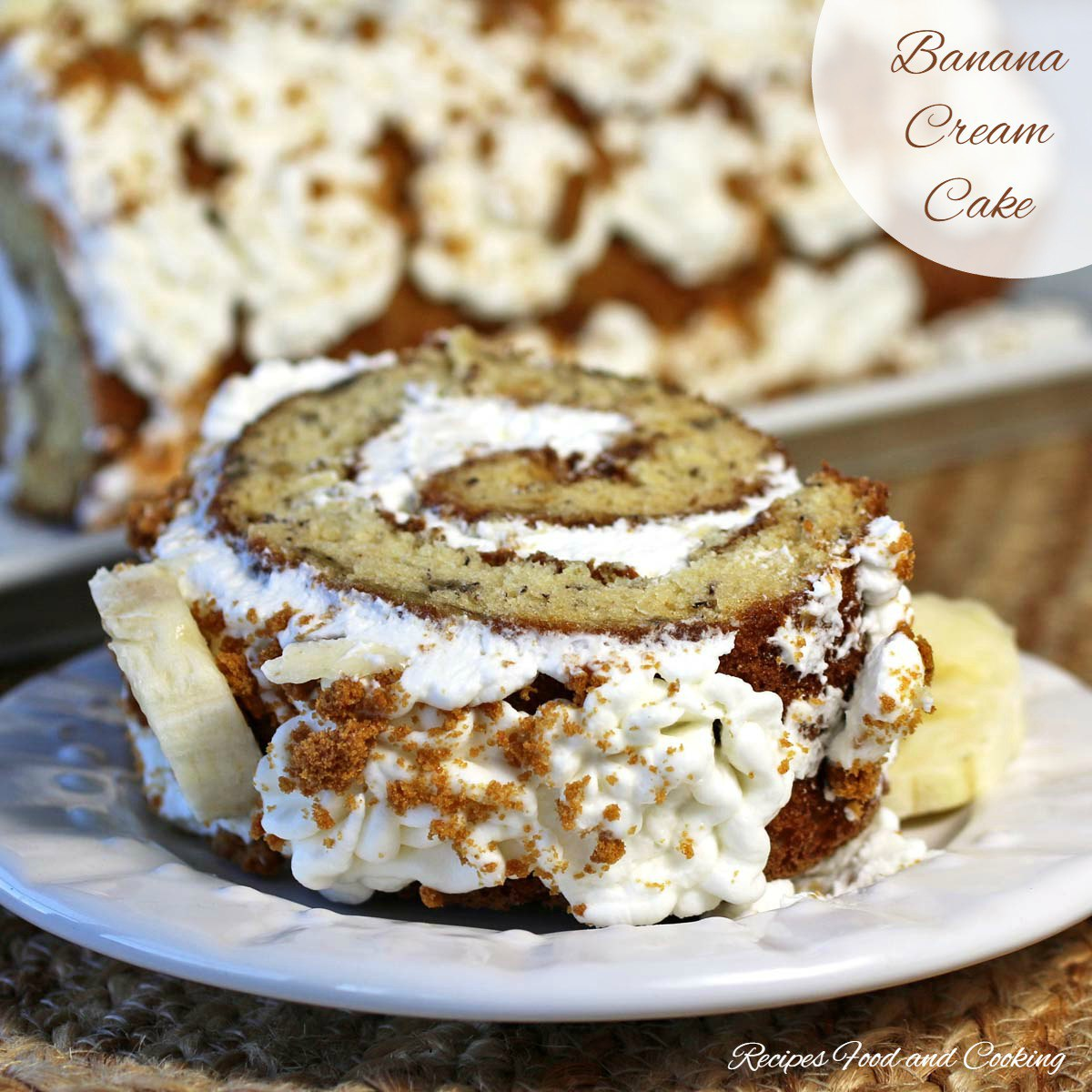 Banana Cream Cake Roll Recipe #bananacream #bananarecipe #cakerollrecipe