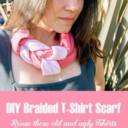DIY Braided T-Shirt Scarf Tutorial #scarfweek2015 #tshirtscarf #diyscarf