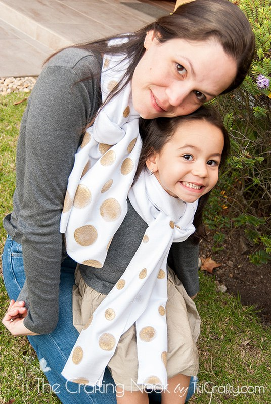 DIY-Gold-Polka-Dots-Scarf-Easy-Tutorial