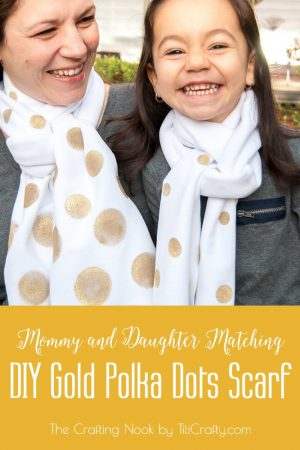 DIY Gold Polka Dots Scarf – Scarf Week Day 2