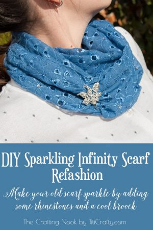 DIY Sparkling Infinity Scarf Refashion – Scarf Week Day 5