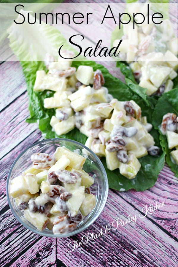 Summer Apple Salad ~ The Plaid & Paisley Kitchen ~ Fresh and light and full of fruit and flavor.  This is perfect on a hot summer day!