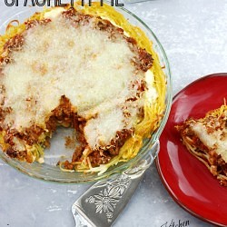 3 Step Spaghetti Pie ~ The Plaid & Paisley Kitchen ~ So easy and perfectly delicious! This will be a family favorite.