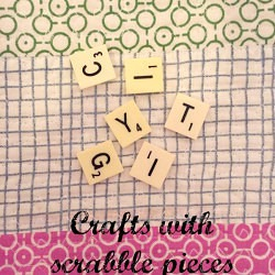 Crafts with Scrabble Pieces