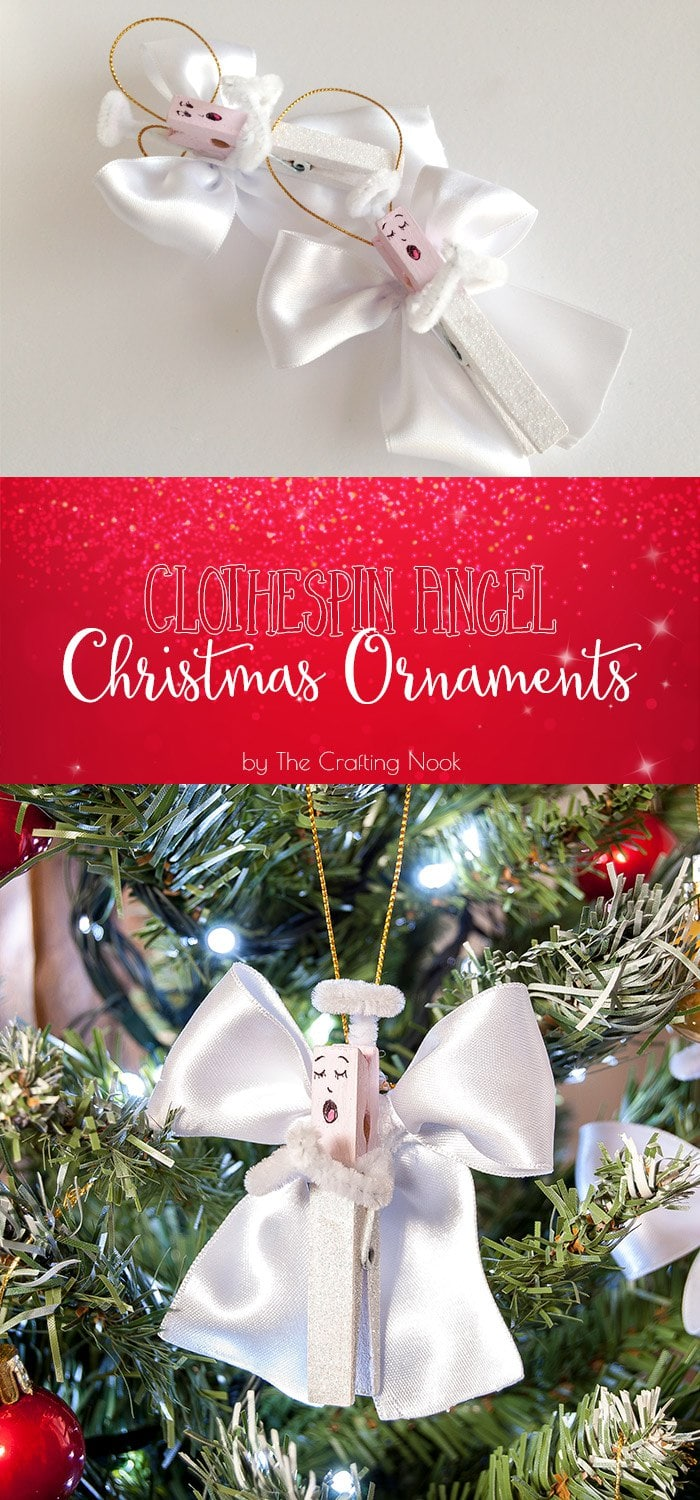 Clothespin Angel Christmas Ornaments | The Crafting Nook ...