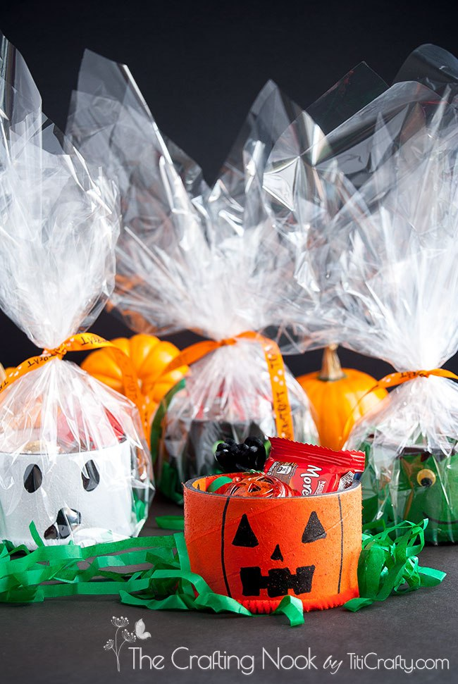 DIY Upcycled Tape Rolls Halloween Gifts