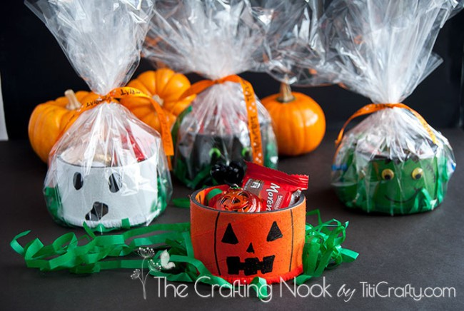 Fun Upcycled Tape Rolls Halloween Gifts