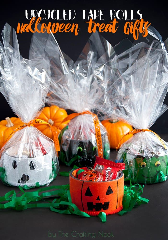 Upcycled Tape Rolls Halloween Gifts
