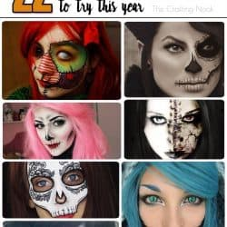 22 Creative and Creepy Halloween Makeup Looks Ideas to try this Year! #Halloweenmakeup #Hallweenfacepainting #halloweenconstumes