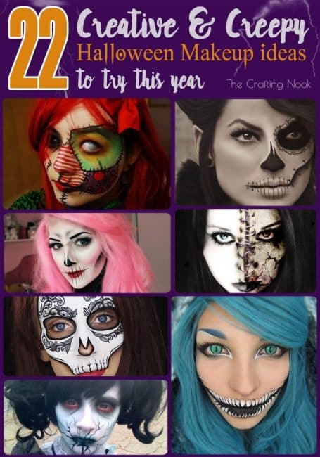 Awesome collection of 22 Creative and Creepy Halloween Makeup Looks Ideas to try this Year! #Halloweenmakeup #Hallweenfacepainting #halloweenconstumes